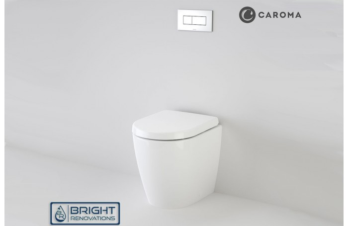 Caroma Urbane Compact Invisi Series II® Wall Faced Toilet Suite Package