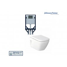 Johnson Suisse Gemelli Econoflush Inwall/ Wall Hung Toilet Suite