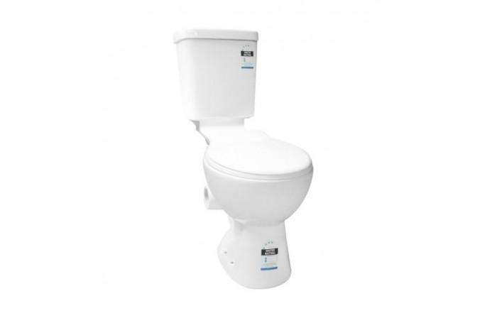 LAGOON Wels Bathroom Skew Pan Toilet Suite, LEFT SKEW