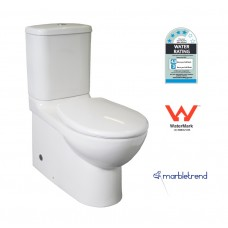 Marbletrend Milano Full Ceramic Wall Faced Toilet Suite Soft Close Seat S/P Trap