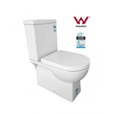 ZE002 Full Ceramic Wall Faced Toilet Suite Soft Close Seat S or P Trap