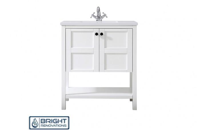 Hampton Style Floor Standing Cabinet  With Shelf