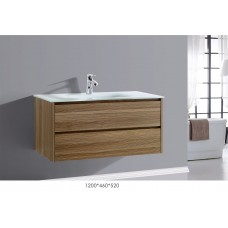 BETTA 1200 Textured Antique Oak Wood Grain Wall Vanity Hidden Handle