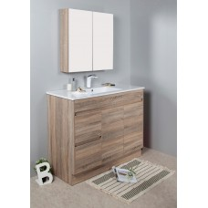 GRACE 1200 Textured Rural Oak Wood Grain Vanity,Hidden Handle