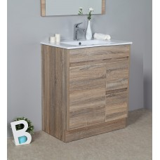 GRACE 750 Textured Rural Oak Wood Grain Vanity,Hidden Handle