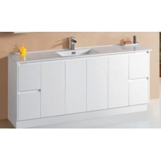 GLEN Bathroom White Finger Pull Hidden Handle Vanity 1800mm