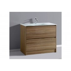 BETTA 900 Textured Antique Oak Wood Grain Wall Vanity  Hidden Handle