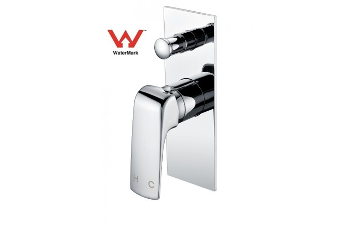 ZITA Bathroom Shower Bath Wall Flick Mixer Tap With Diverter CHROME