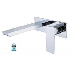 Designer ASTRA Square Bathroom Bath/Vanity Basin Wall Flick Mixer + Spout Combo