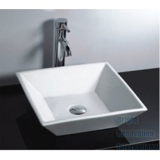 Brand New Above Counter Bathroom Vanity Square Bench Top Ceramic Basin 032