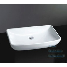 Designer Above Counter Bathroom Vanity Square Bench Top Ceramic Basin I582