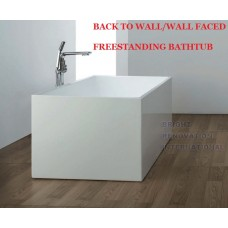 TIGER Thin WALL FACED/BTW Bathroom Square Freestanding Acrylic BathTub 1500mm /1700mm