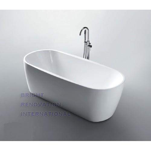 Panda Bathroom Round Oval Stand Alone Acrylic Slim Bathtub
