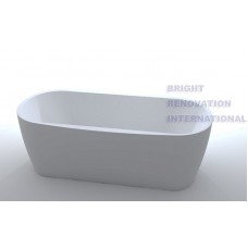 PANDA Bathroom Round Oval Stand Alone Acrylic Slim BathTub 1500mm & 1700mm