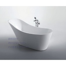 FLAMINGO Thin Edge Bathroom Freestanding Acrylic Slim Modern BathTub 1700MM