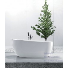 INGOT Thin Edge Bathroom Freestanding Acrylic Slim BathTub 1700MM