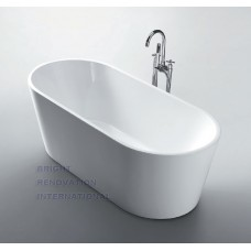 DOLPHIN Thin Edge Bathroom Round Oval Free Standing Acrylic Bath Tub 1500mm&1700mm