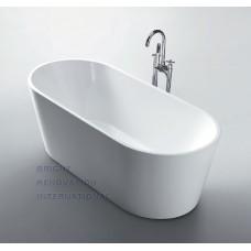 DOLPHIN Thin Edge Bathroom Round Oval Free Standing Acrylic Bath Tub 1500mm&1700mm