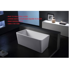 MINI Back To Wall/Corner Bathroom Freestanding Acrylic COMPACT BathTub -1300MM