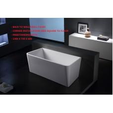 MINI Back To Wall/Corner Bathroom Freestanding Acrylic COMPACT BathTub -1300MM