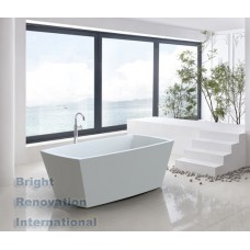 PENGUIAN Bathroom Square FreeStanding Acrylic BathTub 1500mm&1700mm
