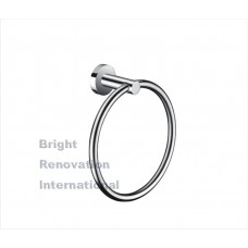 ROYAL Round Bathroom Accessory Solid Brass Chrome Hand Towel Ring