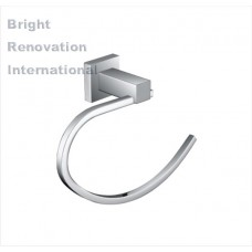 STREAM Square Bathroom Accessory Solid Brass Chrome Towel Ring Holder