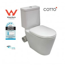 Wels Bathroom COTTO Close Coupled Skew Pan Toilet Suite Skew, LEFT OR RIGHT SKEW