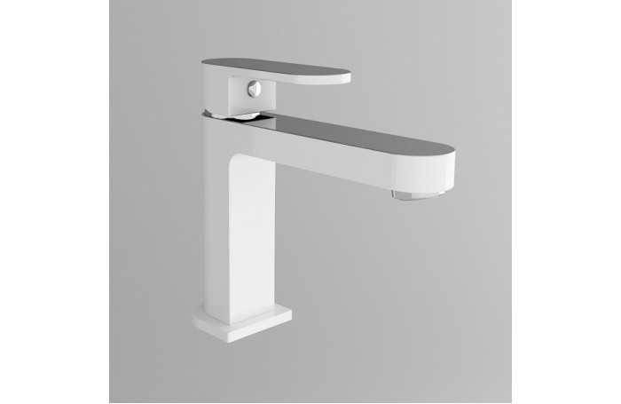 ECCO WHITE & CHROME Oval Bathroom WELS Vanity Basin Flick Mixer Tap Faucet
