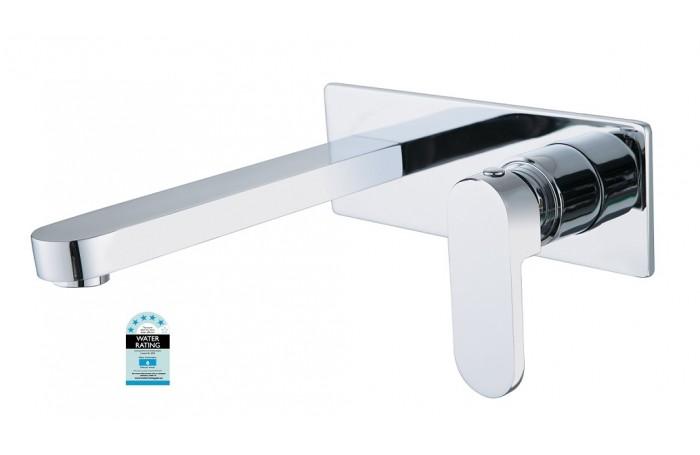 Designer ECCO Oval Bathroom Bath/Vanity Basin Wall Flick Mixer with Spout Combo