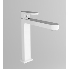 ECCO WHITE & CHROME Oval Bathroom WELS Tall High Basin Flick Mixer Tap Faucet