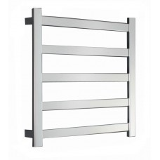 REVO SQUARE SLIM FLAT Heated Towel Rail Ladder Rack 620mm X 800mm, 5 BARS