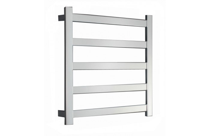 REVO SQUARE SLIM FLAT Heated Towel Rail Ladder Rack 620mm X 800mm, 5 BARS