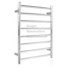 Heated Towel Rail Ladder Rack Round 8 Bars 600mmx920mm