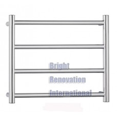 Heated Towel Rail Ladder Rack Round 4 Bars 450mmx550mm