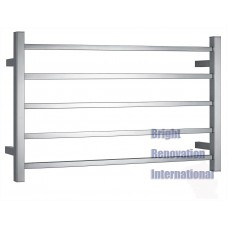 5 BARS SQUARE WIDE Heated Towel Rail Ladder Rack 1200mmX600mm Fit Double towels