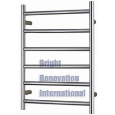 Heated Towel Rail Ladder Rack Round 6 Bars 600mmx800mm