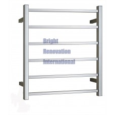 Heated Towel Rail Ladder Rack Square 6 Bars 600mmx800mm
