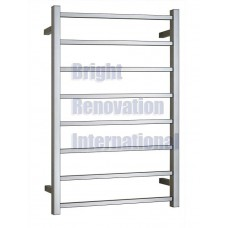 Heated Towel Rail Ladder Rack Square 8 Bars 600mmx920mm