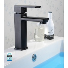 Designer MILAN Bathroom WELS Basin Flick Mixer Tap Faucet, In Matt Black