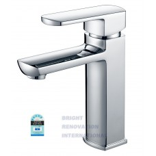 Designer MILAN Square Bathroom WELS Basin Flick Mixer Tap