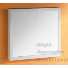 Bathroom Shaving Mirror Cabinet With 2 Pack Poly FRAME 900 x 750