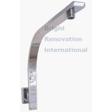 SQUARE Pistol Wall Mounted Solid Brass Chrome Shower Arm