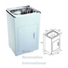 Drop In Stainless Steel Laundry Tub Cabinet 35 Litres