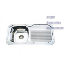 Drop In Single Bowl Stainless Steel Kitchen Sink with Drainer 780mm