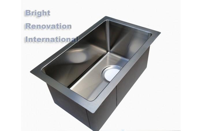 Cube Round Corner Undermount/Drop In Kitchen Handmade Sink Single Bowl 230