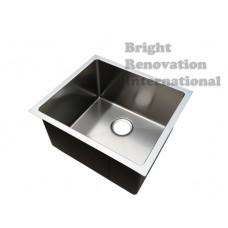 Cube Round Corner Undermount/Drop In Handmade Sink Single Bowl 460, 260 DEEP