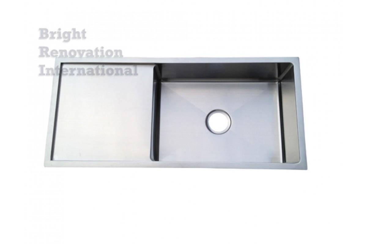 Cube Round Corner Undermount Drop In Kitchen Sink Single