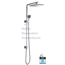 Designer Bathroom Square Combination Shower Rail Set MULTI FUNCTIONAL One Hose