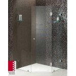Frameless Diamond Corner Shower Screen